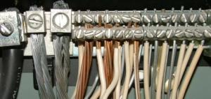 Aluminum and copper wiring inside an electrical panel