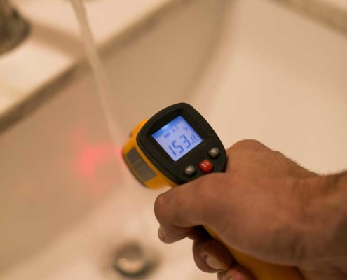 Thermal imaging at a home inspection