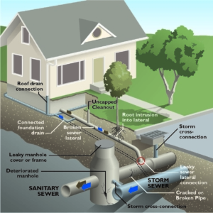 Common Sewer Connections and Layout